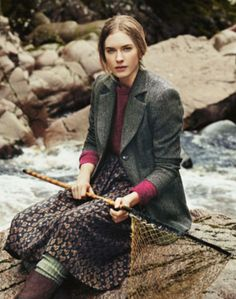 Nice tweed jacket. And beside a river, even better.