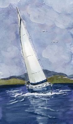 Buy Sail away, Watercolour by Eva Ason on Artfinder. Discover thousands of other original paintings, prints, sculptures and photography from independent artists.