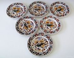 Lamberton Scammell Set Of Six Beautiful Plates Made In America