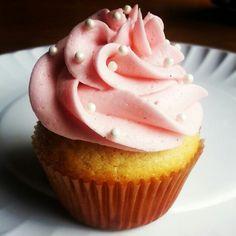 Vanilla bean cupcakes with vanilla bean frosting