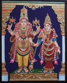More Tanjore Paintings - Golden Streak Adorn Your Life with ART Mysore Painting, Kerala Mural Painting, Madhubani Painting, Indian Art Paintings, Lord Shiva Painting, Ganesha Painting, Jr Art, Outline Drawings, Krishna Art