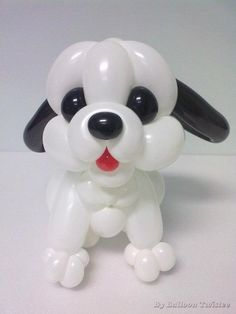 Cute balloon puppy dog made by Balloontwistee