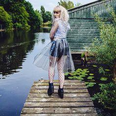Beat the rain in style Lace Skirt, Midi Skirt, Rain Suit, Grunge Girl, Rain Wear, Grunge Fashion, Fashion Shoot, Attitude, Fashion Photography
