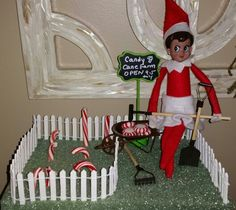 Candy Cane Farmer Elf
