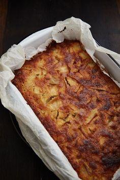 Easy apple and marcipan traybake cake Cake Recipes, Snack Recipes, Dessert Recipes, Sweets Cake, Cupcake Cakes, Delicious Desserts, Yummy Food, Danish Food, Vegan Cake