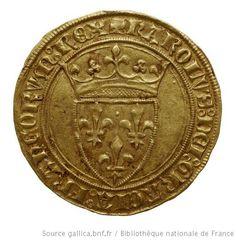 Monnaies royales françaises. Charles VI, droit