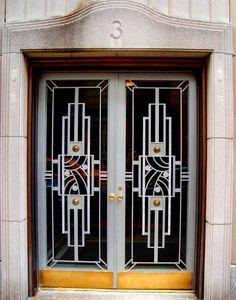 Art Deco Door, 3 East 66th Street, Manhattan.