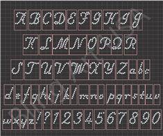 Rhinestone 1 Inch Fancy Italic Font Design Sticky Flock Template Easy Stencil Pink Color Flock Pattern Bling Art Transfer File EPS PLT SVG PDF