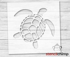 Sea Turtle Beach Stencil DIY Art Stencil
