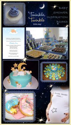 Twinkle Twinkle Little Star Baby Shower Theme Inspiration Board
