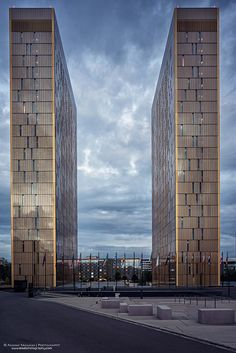 European Court of Justice towers, Kirchberg, Luxembourg.