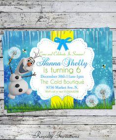 "on "" Disney's Frozen inspired birthday party via Kara's Party . Olaf Party, 5th Birthday Party Ideas, 10th Birthday Parties, Girl Birthday, Frozen Tea Party, Frozen Birthday Party, Frozen Invitations, Party Invitations Kids, Olaf Summer Party"