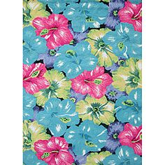 Peony Blue/ Multi Floral Rug (3'6 x 5'6)