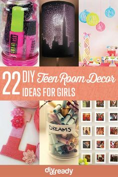 22 Easy DIY Teen Room Decor Ideas for Girls | http://diyready.com/easy-teen-room-decor-ideas-for-girls/