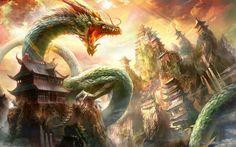 Green dragon, dragon verde