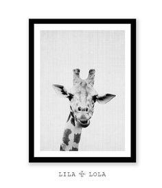 Niños de guardería Animal Print jirafa Safari salón por LILAxLOLA
