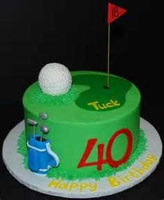 I had a request to recreate a previous golf cake design. It's an vanilla cake with vanilla buttercream frosting. Birthday Cakes For Men, Happy Birthday Golf, Green Birthday Cakes, Themed Birthday Cakes, Birthday Board, Golf Themed Cakes, Golf Cakes, Fun Cakes, Golf Grooms Cake