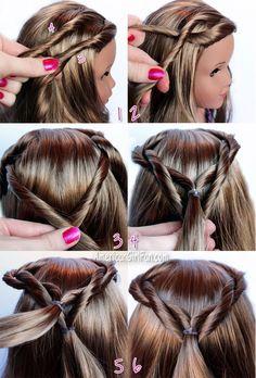 American Girl Doll Lea Clark Girl of the Year Hairstyle  jFr:  Americangirlfan