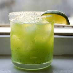 Cucumber-jalapeno-margarita, the new best summer poolside drink. Put 1/2 can frozen limeade, 1/2 can tequila, 1/3 sliced large cucumber, 1/3 jalapeneo, seeded in a blender. Add ice and hit 'high'. garnish with a slice of cucumber. You can't stop drinking these things.
