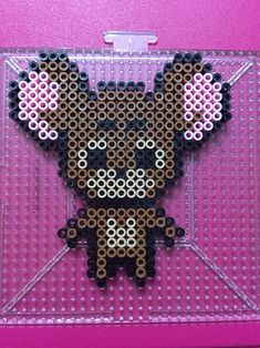 Jerry Mouse perler beads done by BreAnda Robbins