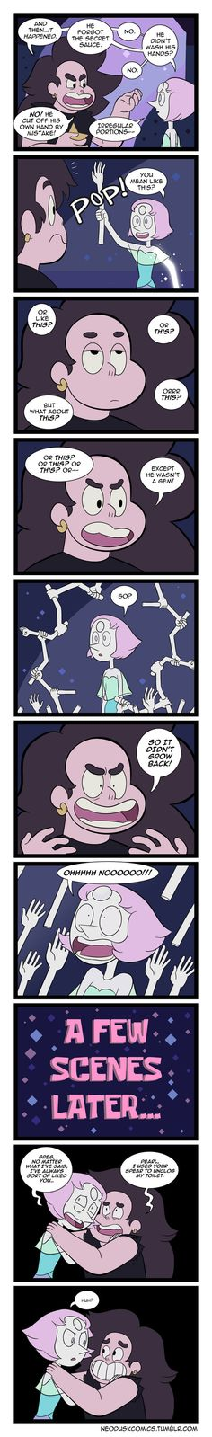 Steven Universe: The Gem Slashing Slinker by Neodusk.deviantar… on Steven Universe: The Gem Slashing Slinker von Neodusk. Deviantart, Steven Universe Funny, Lapidot, Bubbline, Pokemon, Universe Art, It Goes On, Spongebob, Decir No