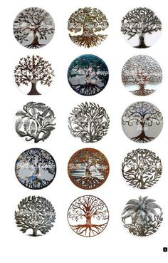 Tree Of Life Metal Collage Sheet Body Art Tattoos, New Tattoos, Tatoos, Celtic Symbols, Celtic Art, Tattoo Life, Fenrir Tattoo, Element Tattoo, Celtic Tree Of Life