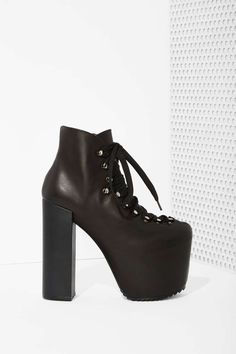 UNIF Hellbound Leather Platform Bootie | Shop The Clean Slate Sale at Nasty Gal