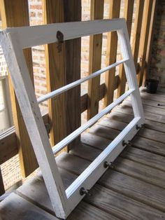 make a scarf hanger out of an old window frame!