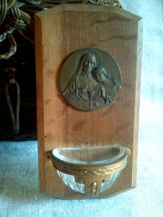 Vintage Holy Water Font $25