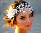 Crystal Bridal Floral Crown- (Seen here in Clear Crystal ). $450.00, via Etsy.