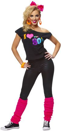 80's Fashion For Teen Girls I Love The s Costume Shirt