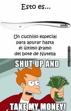 ★★★★★ Memes en español imágenes: Cuchillo especial Nutella I➨…