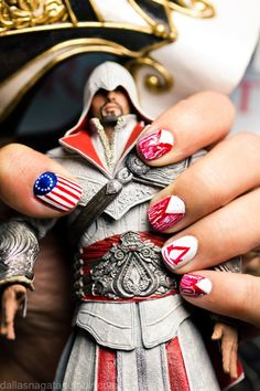 assasins creed nails!!! Id do this just for my gamer @Christopher Chicco