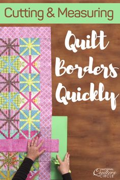 Diane Harris talks about the problematic process of measuring and cutting borders. She teaches you a method that is fast, easy and accurate, especially on large quilts. Also, as an added benefit it will help your quilt hang flat without wobbling borders.