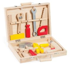 Bricolo Redmaster Kit Janod Children- A large selection of Toys and Hobbies on Smallable, the Family Concept Store - More than 600 brands. Wooden Tool Boxes, Wooden Case, Making Wooden Toys, Shops, Hand Saw, Christmas Gift Guide, Christmas Ideas, Kit, Kids Corner