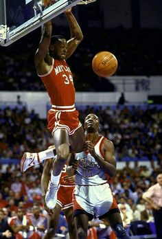 302a963305ee Maryland Terrapin s late great Len Bias dunks over UNLV s late legend Armon  Gilliam in Las Vegas
