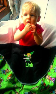 Legend of Zelda Link Fleece Baby/Kids Blanket by StitchezALaMode