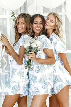 Perfect Bridesmaid Gift | Hydrangea Pajamas | Bridesmaid PJs | Bridal Ideas | Wedding Ideas | Wedding | Bridesmaid Gift #ad #bridesmaid #bridal #bridalparty #weddingideas #wedding #giftideas #fashion #pajamas