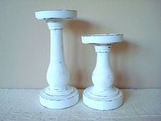 Candlestick Holders Upcycled by VintageCharmPlace, $22.00