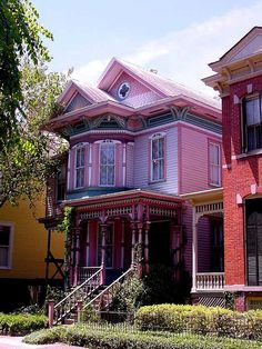 Pink Lady Victorian House in Savannah, Georgia