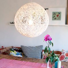 DIY string large orb light.