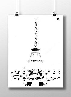 Plakat / Poster – Paris_Tour Eiffel_dots
