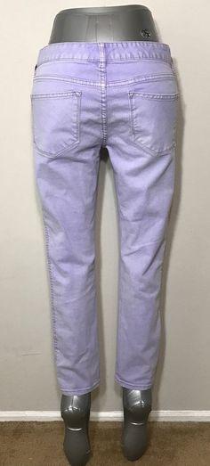 Free People Womens Size 29 Jeans Purple Pastel Herringbone Skinny Stretch #FreePeople #SlimSkinny