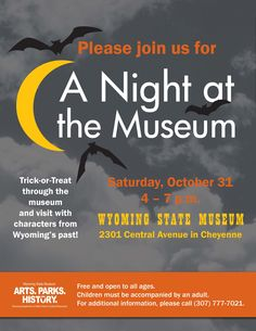 Night at the Wyoming State Museum, Oct. 31, 2015 from 4-7 p.m.
