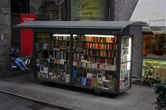 Tiny English language bookshop in Milan.