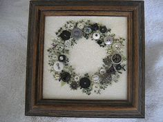 Antique Button Wreath with hand embroidery on Etsy