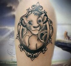 75 Amazing Simba Tattoos || If you're looking for some gorgeous disney tattoos or lion tattoos, check out all of the ones that I have found on Instagram. This is one of my favorite lion king tattoos! @sparklesandtattoos on Instagram. Disney Tattoos Peter Pan, Disney Tattoos Quotes, Disney Sleeve Tattoos, Sleeve Tattoos For Women, Wolf Tattoos, Finger Tattoos, Lion Tattoo, Tatoos, Disney Tattoos Beauty And The Beast