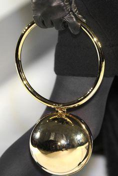 gold bell clutch- Moschino 2010