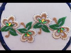 Bead Embroidery Tutorial, Hand Embroidery Patterns Flowers, Hand Work Embroidery, Silk Ribbon Embroidery, Hand Embroidery Designs, Bead Embroidery Jewelry, Hand Embroidery Stitches, Tambour Beading, Motifs Perler