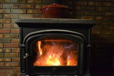 The little woodstove in the kitchen